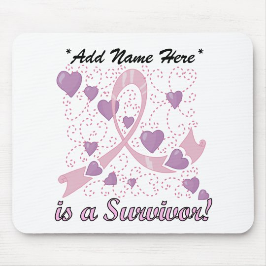 Customisable Breast Cancer Survivor Mousepad