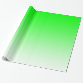Customisable Bright Green Fade Wrapping Paper