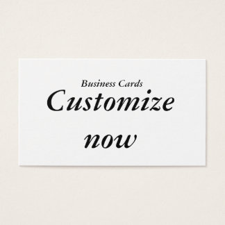 Customisable Business Cards