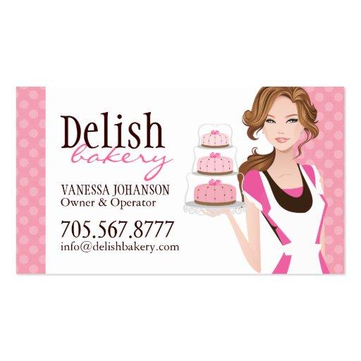 Customisable Cake Bakery Business Card Zazzle