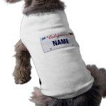 (Customisable) California License Plate Sleeveless Dog Shirt