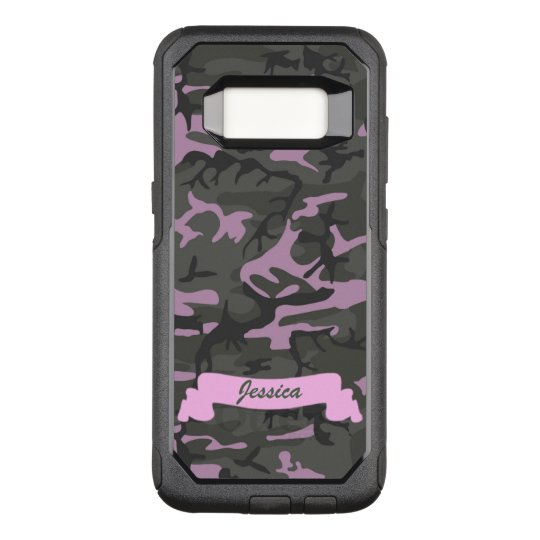 Customisable Camo with Pink OtterBox Commuter Samsung Galaxy