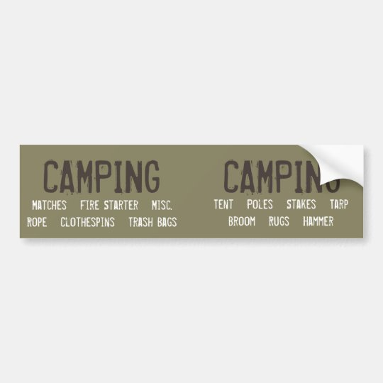Customisable Camping Organisation Labels