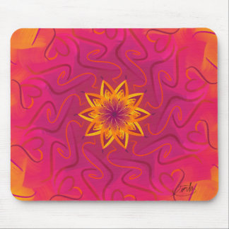 Customisable Carnation (Psychedelic spirograph) Mouse Pad