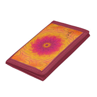 Customisable Carnation (Psychedelic spirograph) Trifold Wallet