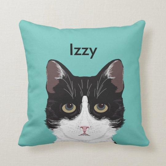 Customisable Cat Name - Black and White Tuxedo