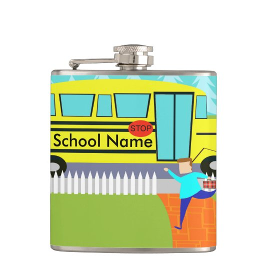 Customisable Catching School Bus Flask