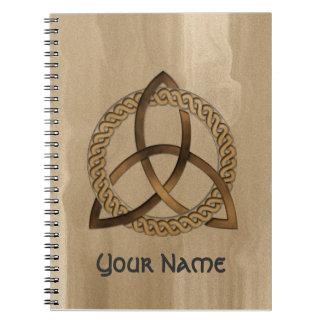Customisable Celtic Trinity Knot Notebook