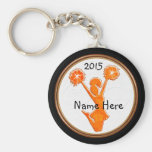 Customisable Cheer Party Favours Your Colours, Basic Round Button Key Ring