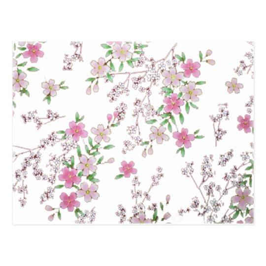 Customisable Cherry Blossom Designs Postcard