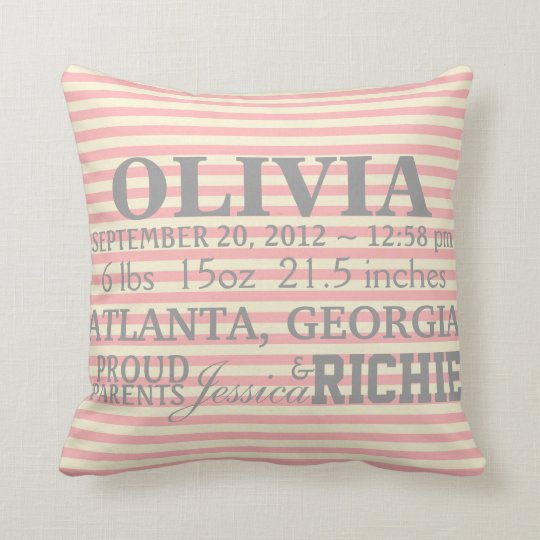 Customisable Chevron Baby Nursery Pillow