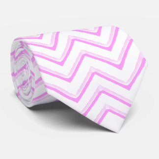 Customisable Chevron Soft Pink Tie