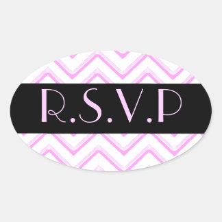 Customisable Chevron Soft Pink Wedding Stickers