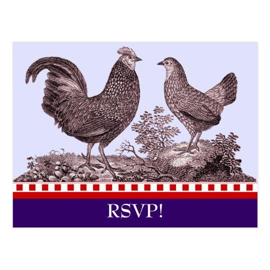 Customisable Chicken BBQ RSVP Response Card