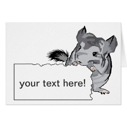 Customisable Chinchilla greeting birthday card