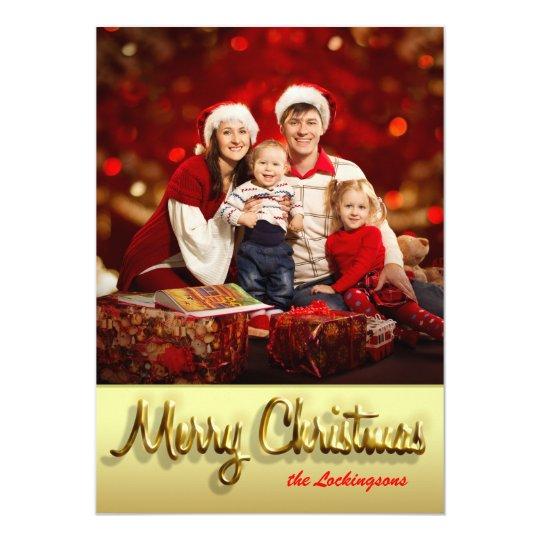 Customisable Christmas card Family photo