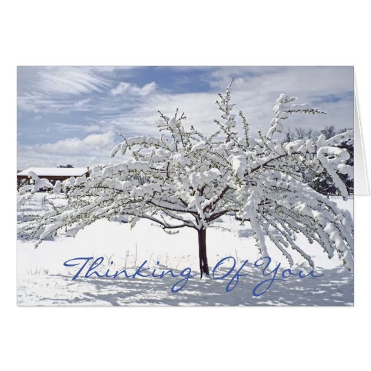 customisable Christmas card/Thinking of You/snow-c Card