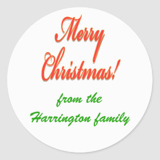 Customisable Christmas sticker red green