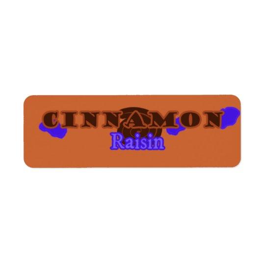 Customisable Cinnamon Raisin Bakery Labels