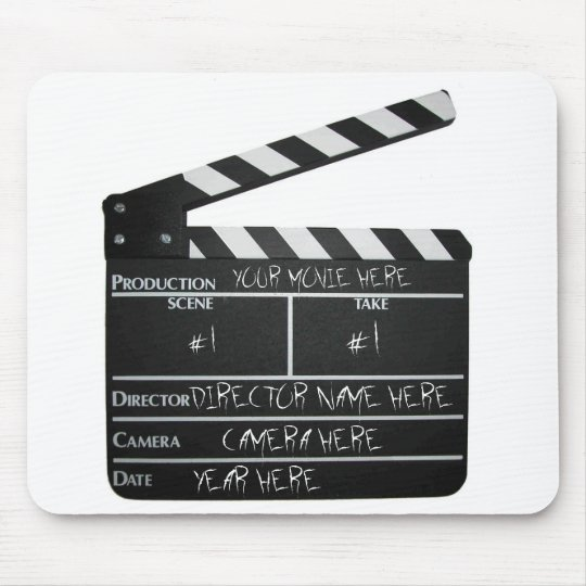 Customisable Clapboard Slate movie filmmaker film Mouse Mat