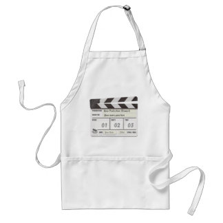 Customisable Clapperboard Chef's Apron. Standard Apron