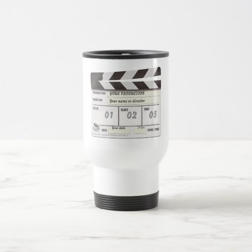 Customisable Clapperboard Thermos Location Mug