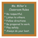 Customisable Classroom Rules Poster