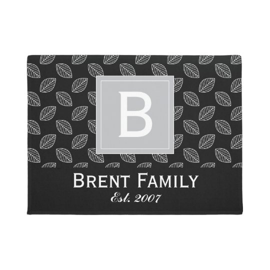 Customisable Colour Nature Door Mat, Black Grey Doormat