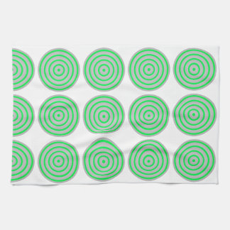 Customisable Colourful Concentric Circle Design Towels
