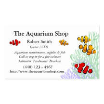 Customisable Coral Reef Clownfish Business Card