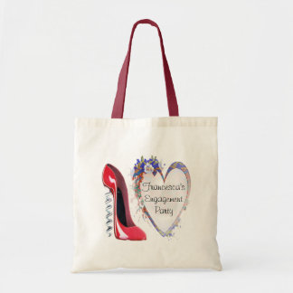 Customisable Corkscrew Stiletto and Heart Gifts Budget Tote Bag