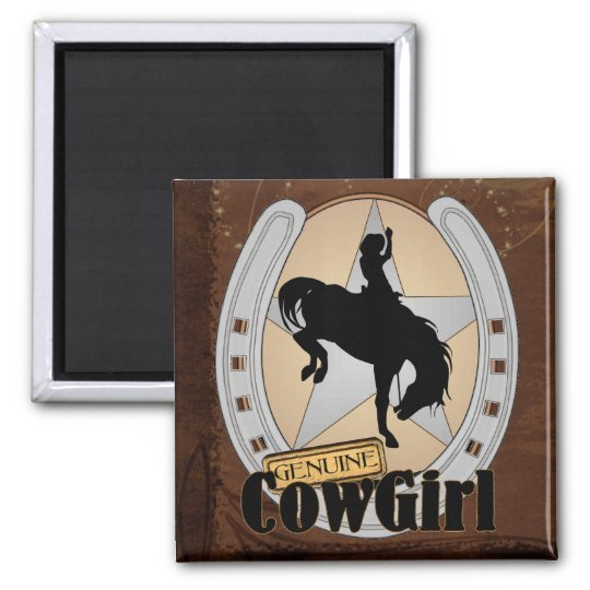 Customisable Cowgirl Rodeo Magnet