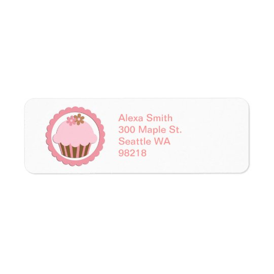 Customisable Cupcake Address Return Labels