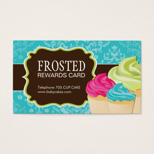 Customisable Cupcake Rewards Cards