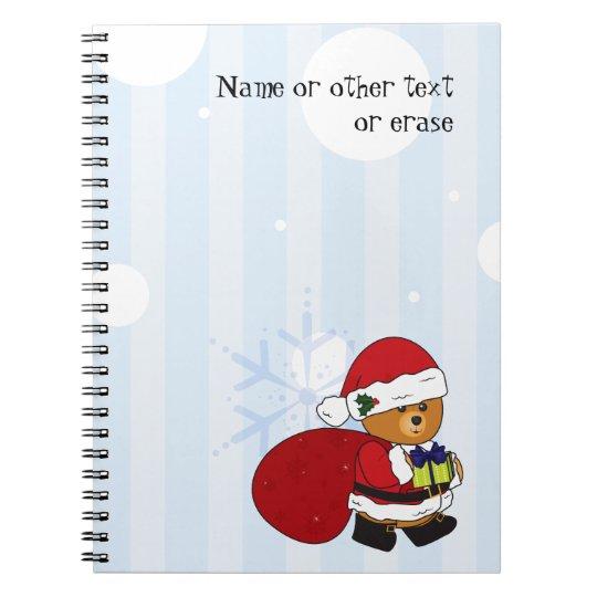 Customisable Cute Christmas Teddy Bear Notebook