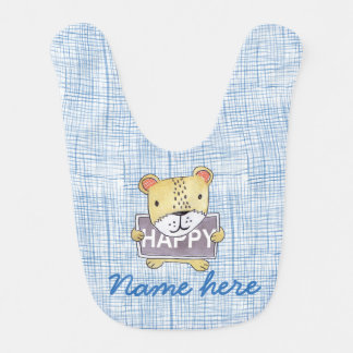 Customisable, cute Lion cub Bib