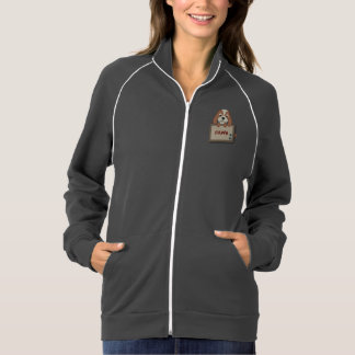 Customisable Cute Puppy Dog with Signboard Track Jackets