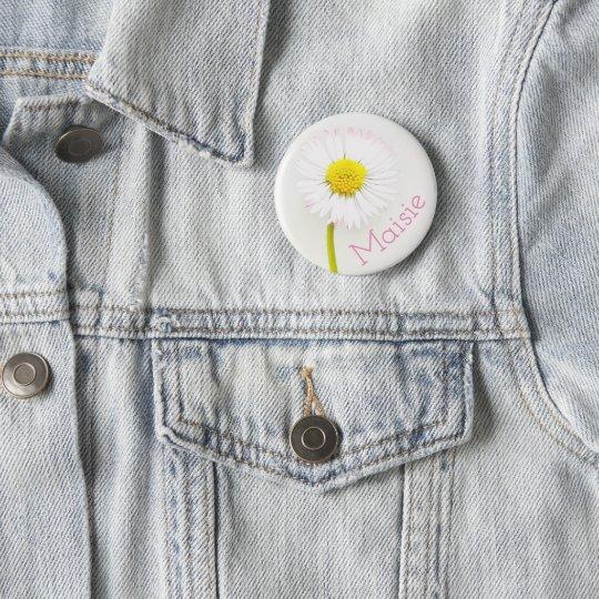 Customisable Daisy Flower Badge