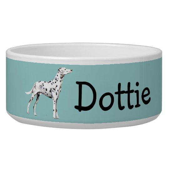 Customisable Dalmatian Dog Bowl