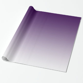 Customisable Dark Purple Fade Wrapping Paper