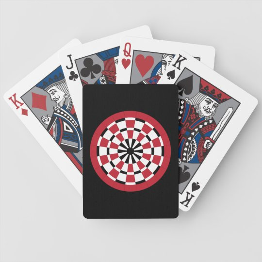 Customisable Dartboard Bicycle Playing Cards