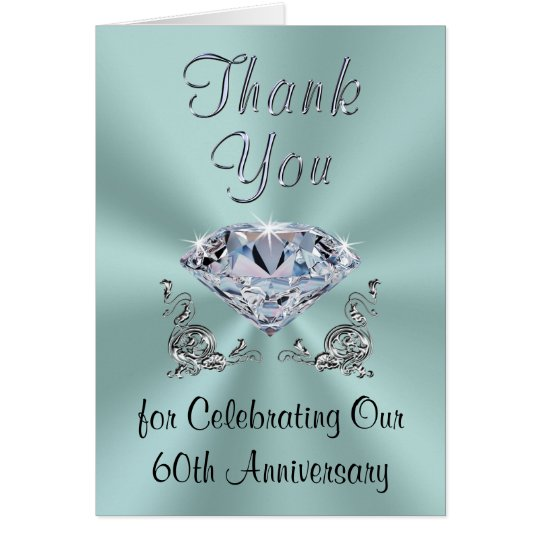 Customisable Diamond Anniversary Thank You Cards