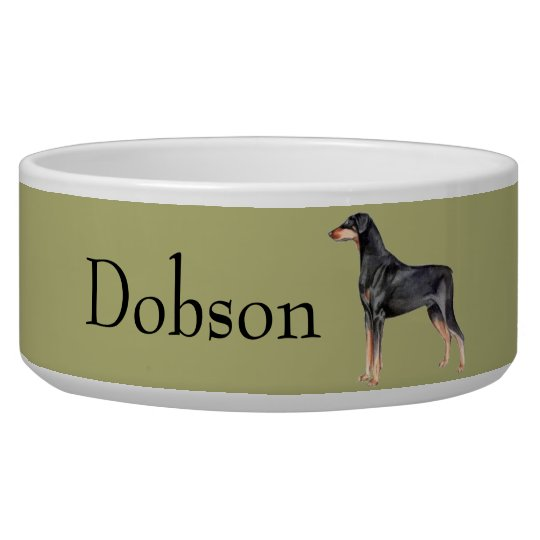 Customisable Doberman Pinscher Dog Bowl
