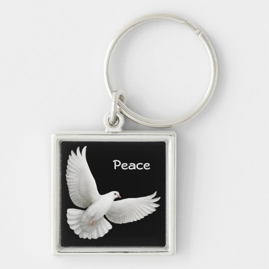 Customisable Dove Keychain