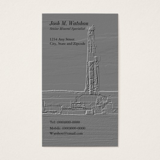 Customisable Drilling Rig Business Card