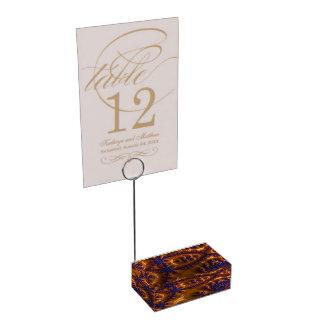 Customisable Elegant Fractal Art Table Card Holder