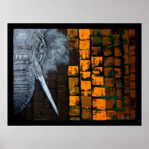 Customisable Elephant Poster