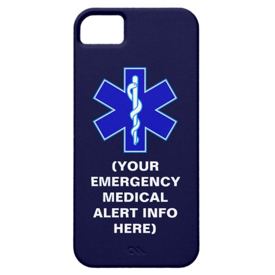 Customisable Emergency Medical Alert iPhone Cases