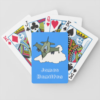 Customisable F16 Fighting Falcon Design Poker Cards