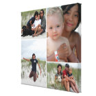 Customisable Family Photo Collage Canvas Print
